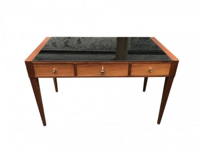 DESK WITH BLACK TOP
