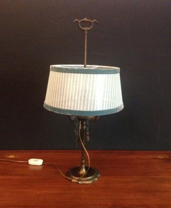 TABLE LAMP MADE FROM OLD OIL LAMP