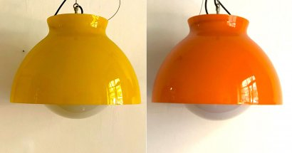 PAIR OF VETRERIE VISTOSI PENDANT LAMPS